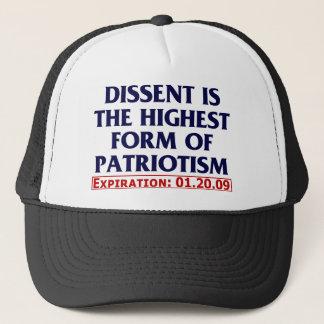 Dissent (expired 01.20.09) trucker hat