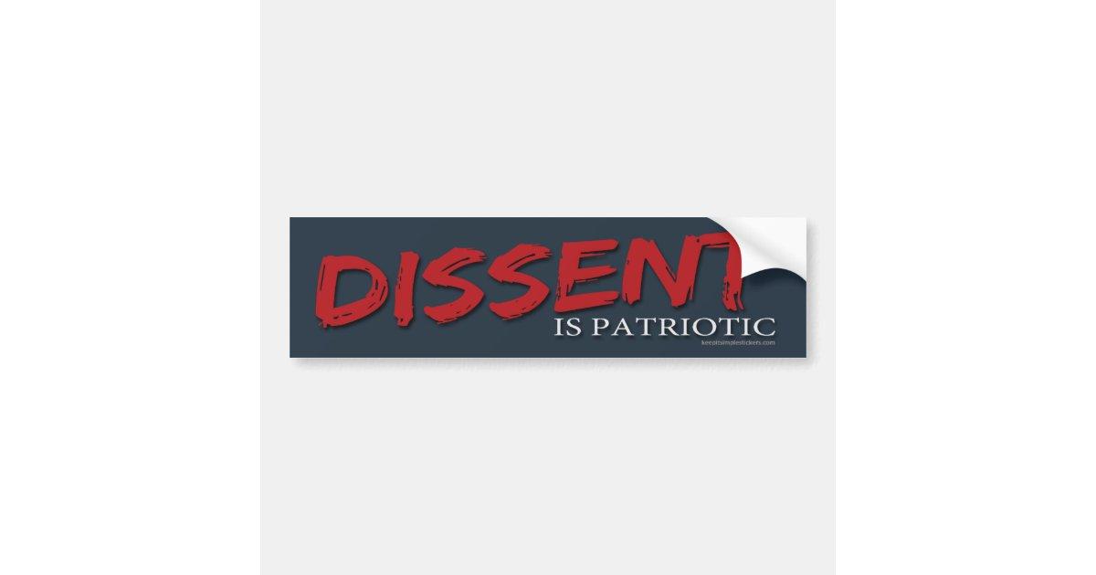 Dissent Is Patriotic Sticker Sticker Vinyl Bumper Sticker Decal Waterproof 5