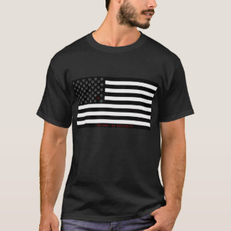 """""""dissent is patriotic"""" smiley flag T-Shirt"""