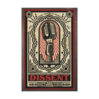 Dissent Stretched Canvas Print