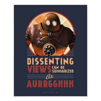 """Dissenting Views Can be Summarized poster (16x20"""")"""