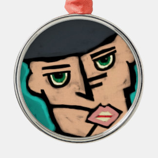 Dissimulate or die metal ornament