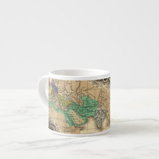 Dissolution of The Empire of Charlemagne 912 AD Espresso Cup