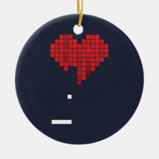 Dissolution Double-Sided Ceramic Round Christmas Ornament