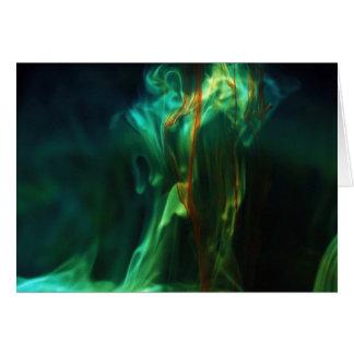 Dissolving /Fluorescein in water Card