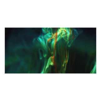 Dissolving /Fluorescein in water Photo Cards
