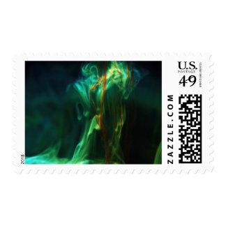 Dissolving /Fluorescein in water Postage Stamp
