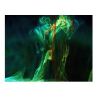 Dissolving /Fluorescein in water Post Card