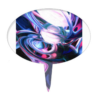 Dissolving Imagination Painted Abstract Cake Pick