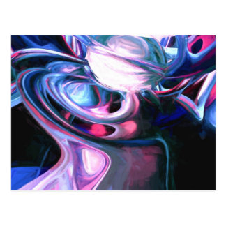 Dissolving Imagination Painted Abstract Post Card
