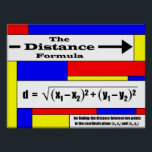 """Distance Formula Poster<br><div class=""""desc"""">Put the Distance Formula on your classroom wall! Great for Algebra,  Geometry,  and Precalculus classes!</div>"""