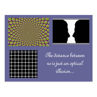 Distance is an optical illusion postcard