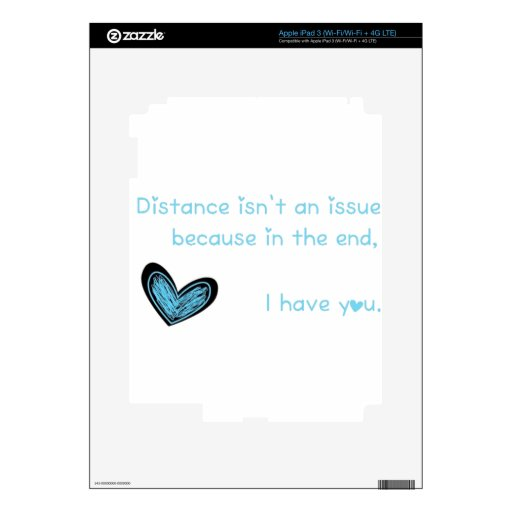 Distance isn't an issue... iPad 3 decal