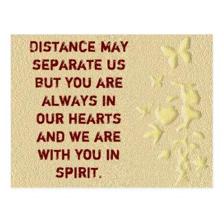 Distance may separate us-postcard postcard