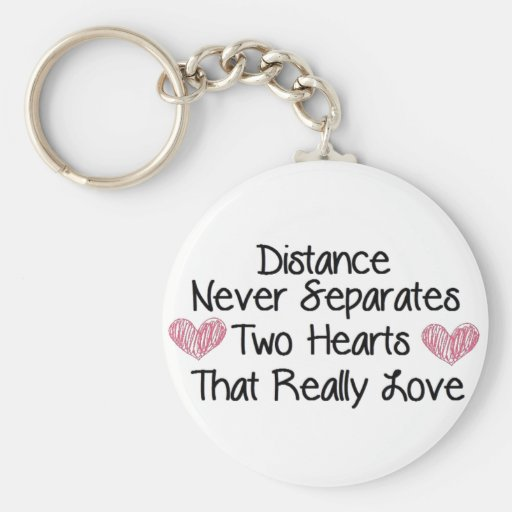 Distance never separates... keychain