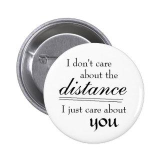 Distance Pinback Button