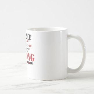 distance, strong classic white coffee mug
