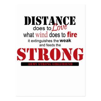 distancia, fuerte postal