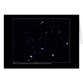 Distant Galaxies Hubble Telescope Greeting Card