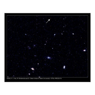 Distant Galaxies Hubble Telescope Posters