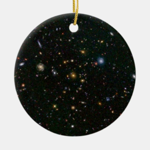 Distant Galaxy Bursts with Stars Christmas Tree Ornament