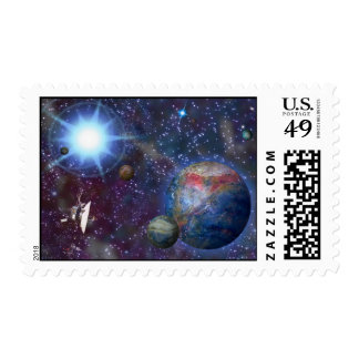 Distant Galaxy Postage Stamps