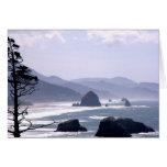 Distant Haystack Rock Oregon Coast Card