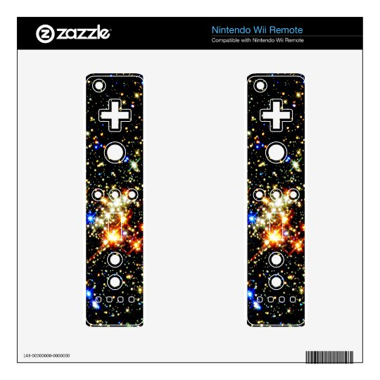 Distant Luminous Stars Decal For The Wii Remote