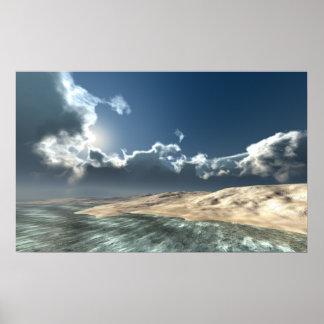 Distant Ocean Island. Print