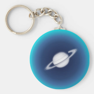 Distant Planet Basic Round Button Keychain