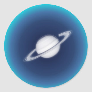 Distant Planet Classic Round Sticker