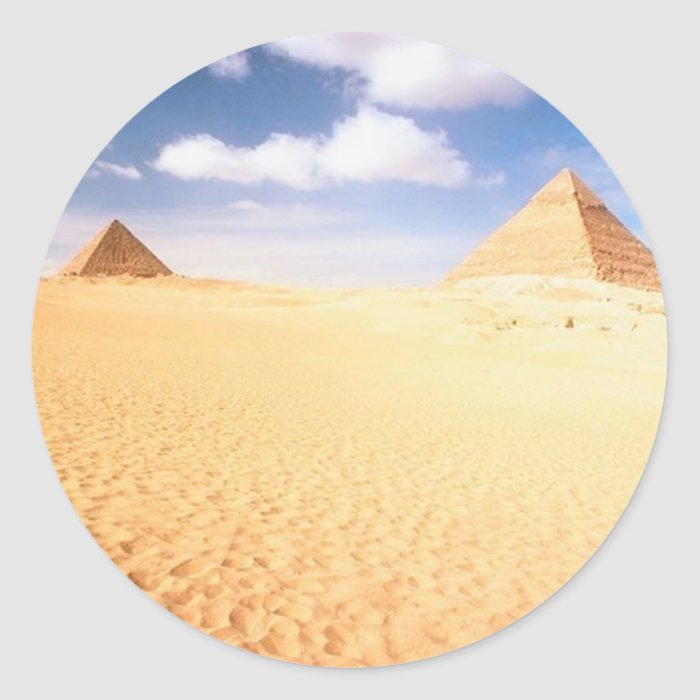 Distant Pyramids Classic Round Sticker
