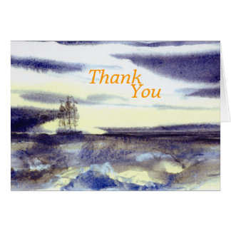 Distant Sails Thank You Card
