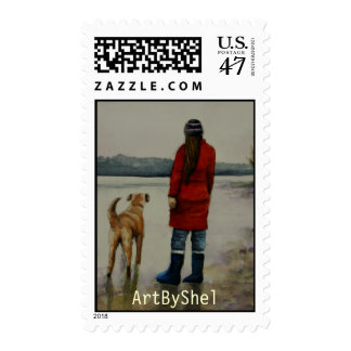 distant shores postage stamp