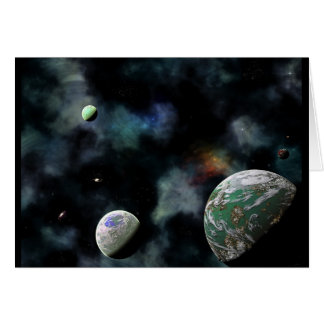 Distant System-C Greeting Card