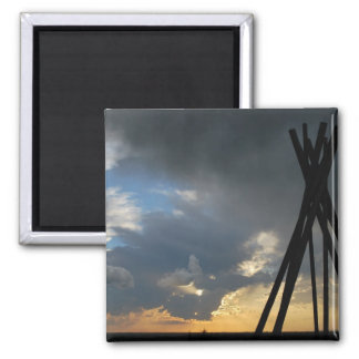 Distant Thunder 2 Inch Square Magnet