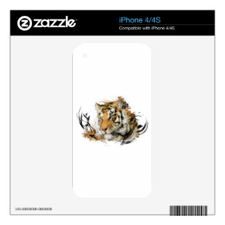 Distant Tiger Decal For The iPhone 4