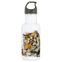 Distant Tiger Stainless Steel Water Bottle