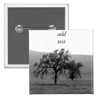 Distant Tree (Black & White) Button