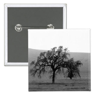 Distant Tree (Black & White) Pins