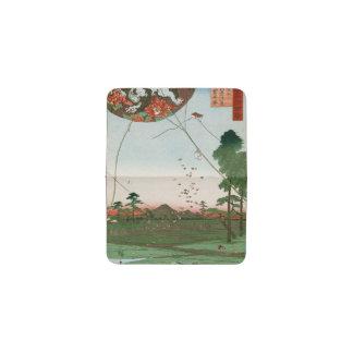 Distant view of Akiba of Enshu, kites of Fukuroi Business Card Holder