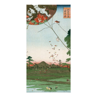 Distant view of Akiba of Enshu, kites of Fukuroi Card