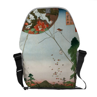 Distant view of Akiba of Enshu, kites of Fukuroi Courier Bag