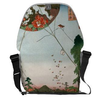 Distant view of Akiba of Enshu, kites of Fukuroi Messenger Bag