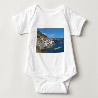 Distant view of Atrani on Amalfi coast Baby Bodysuit