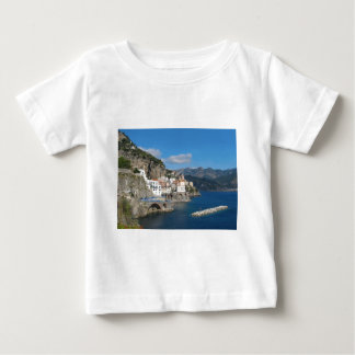 Distant view of Atrani on Amalfi coast Baby T-Shirt