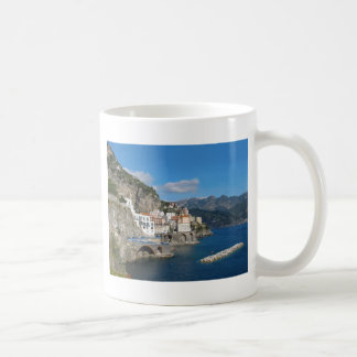 Distant view of Atrani on Amalfi coast Classic White Coffee Mug