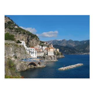 Distant view of Atrani on Amalfi coast Post Cards