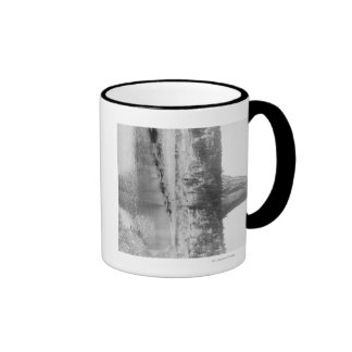 Distant View of Devil's Tower with Water in the Ringer Coffee Mug