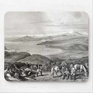 Distant View of the Aconcagua Volcano Mouse Pad